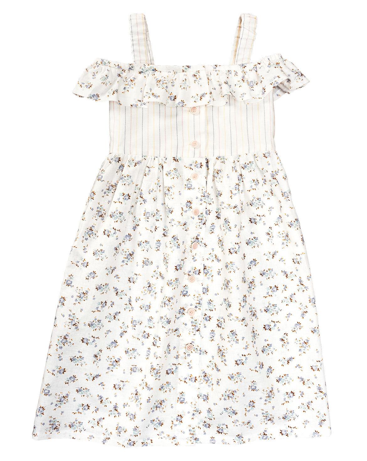 Kleid Mit Knopfleiste F/S 2020 9304B Mädchen Kleider