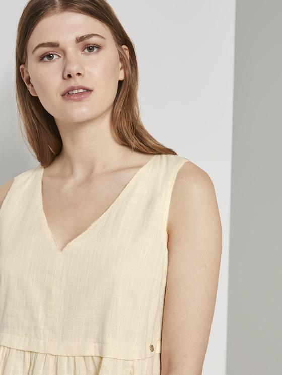 Kleid Mit Knopfleiste Und Vausschnitt  Von Tom Tailor Denim