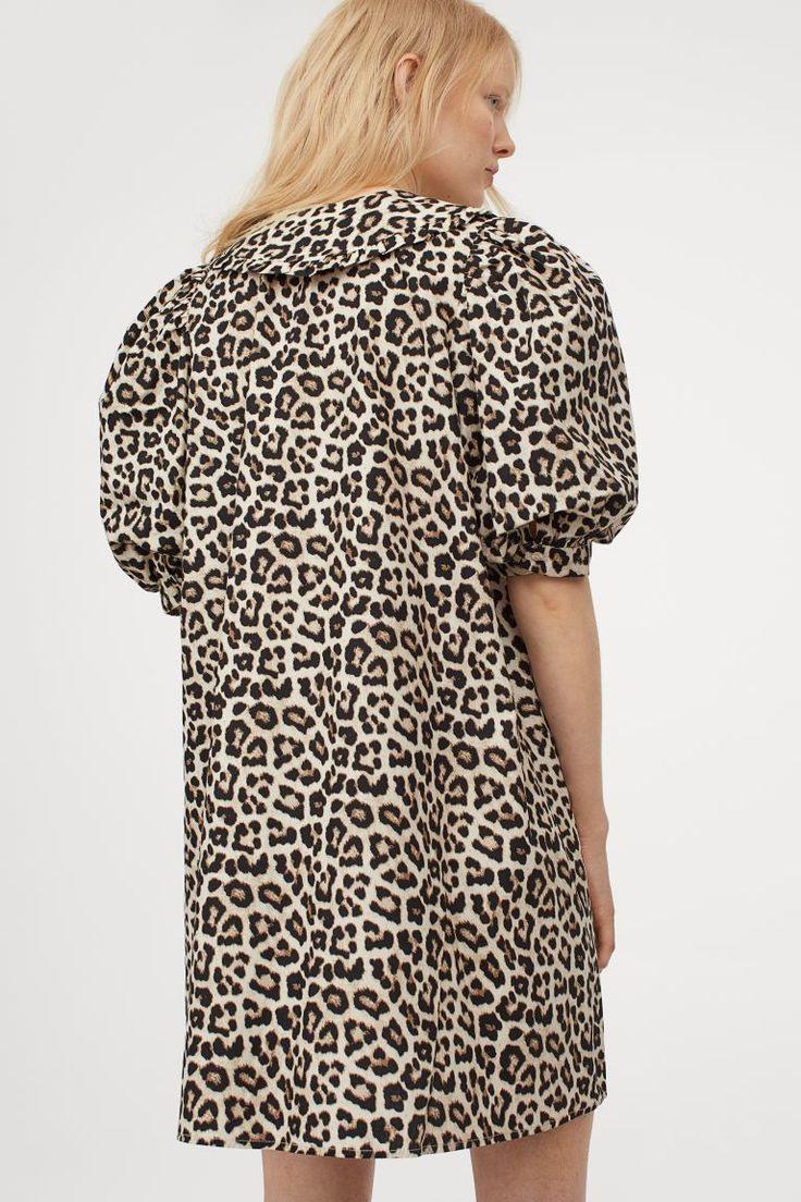 Kleid Mit Kragen  Hellbeige/Leopardenmuster  Ladies  H