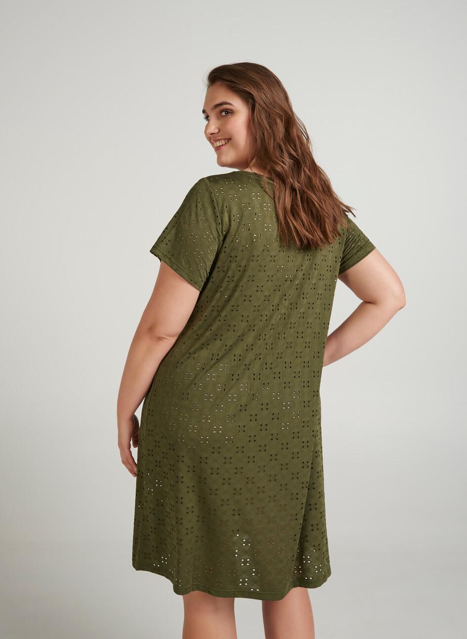 Kleid Mit Kurzen Ärmeln  Grün  Str 4256  Zizziat