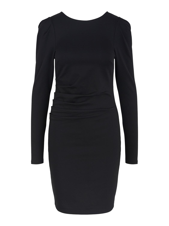 Kleid Mit Leichten Puffärmel In Schwarz  C Drei Concept