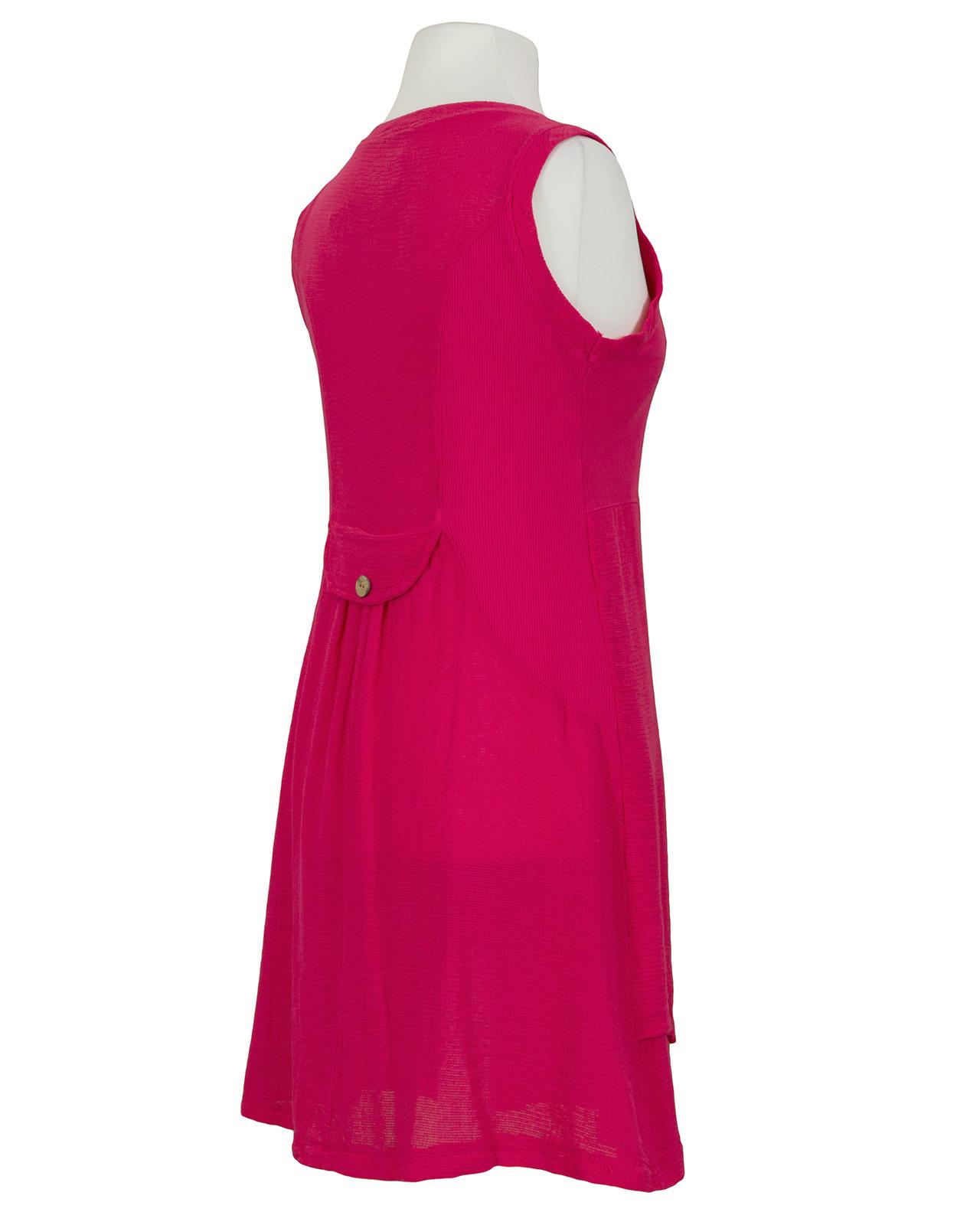 Kleid Mit Leinen Fuchsia Von Diana  Meinkleidchen