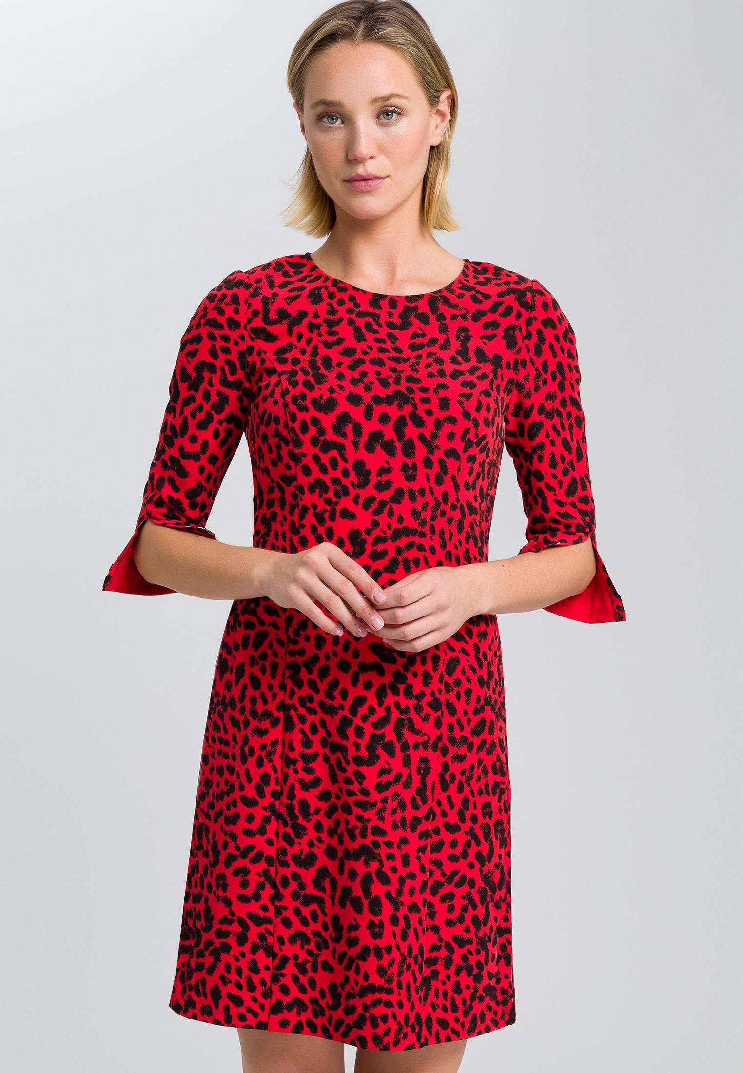Kleid Mit Leopardendruck  Kleider  Röcke  Sale