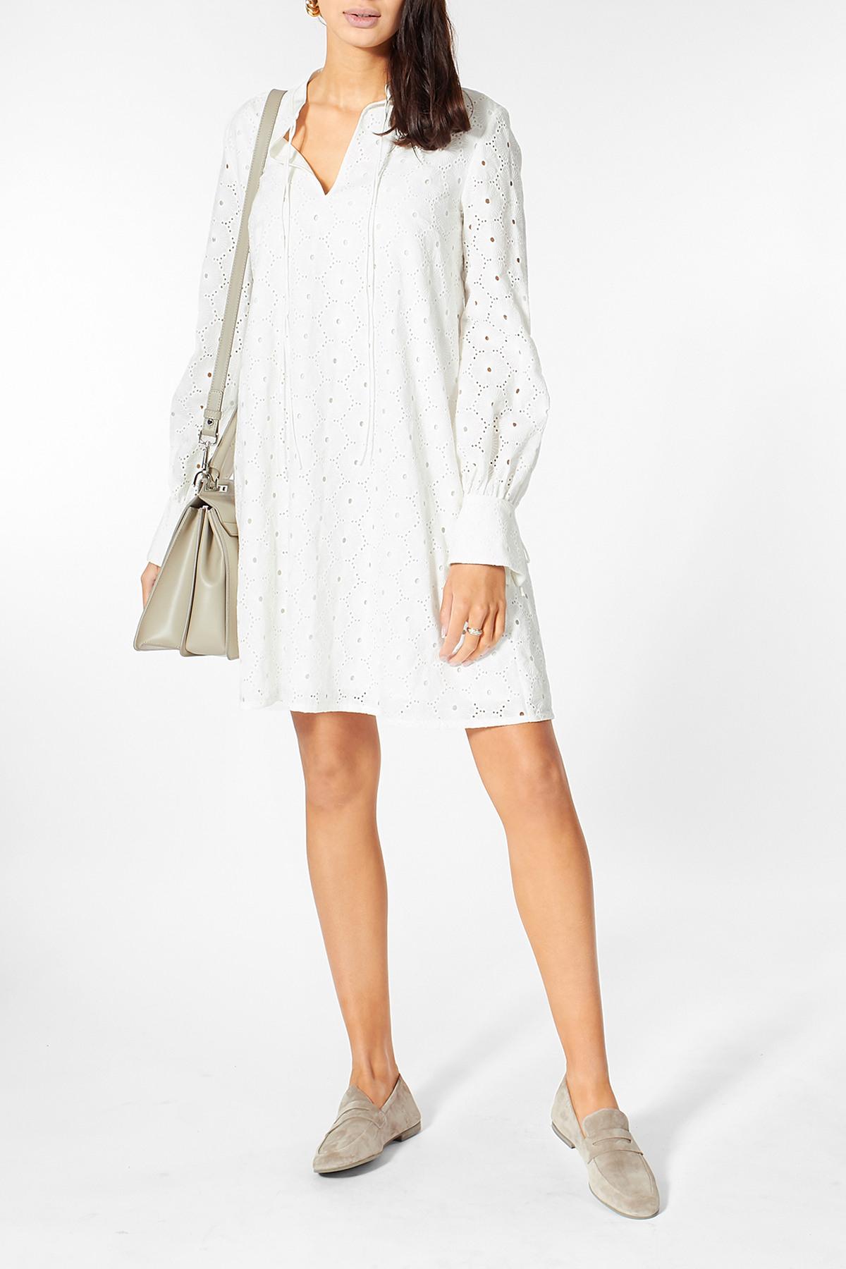 Kleid Mit Lochstickerei  Sly010  Myclassico
