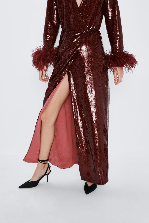 Kleid Mit Pailletten  Limited Edition  Maxikleidkleider