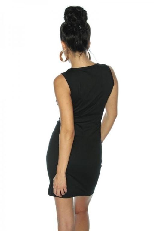 Kleid Mit Pailletten Schwarzgemustert  Online