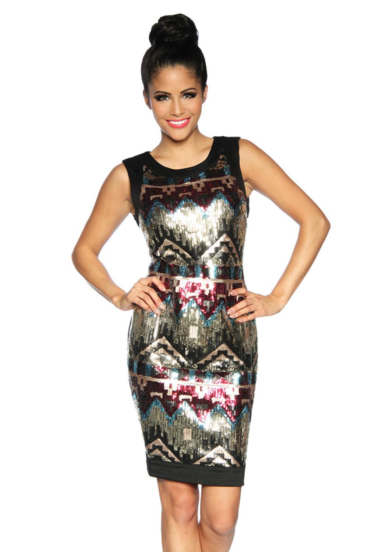 Kleid Mit Pailletten Von Luxury  Good Dessous In Schwarz