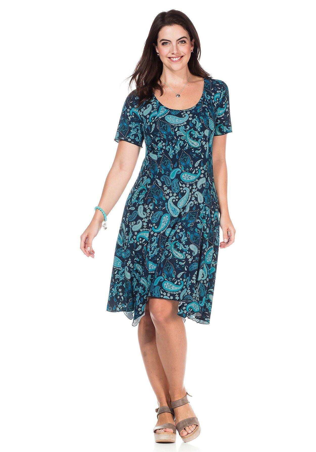 Kleid Mit Paisleymuster  Sheego Blue Waterworld