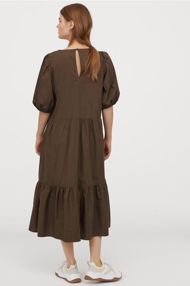 Kleid Mit Puffärmeln In 2020  Kleider Kleid Mit Ärmel