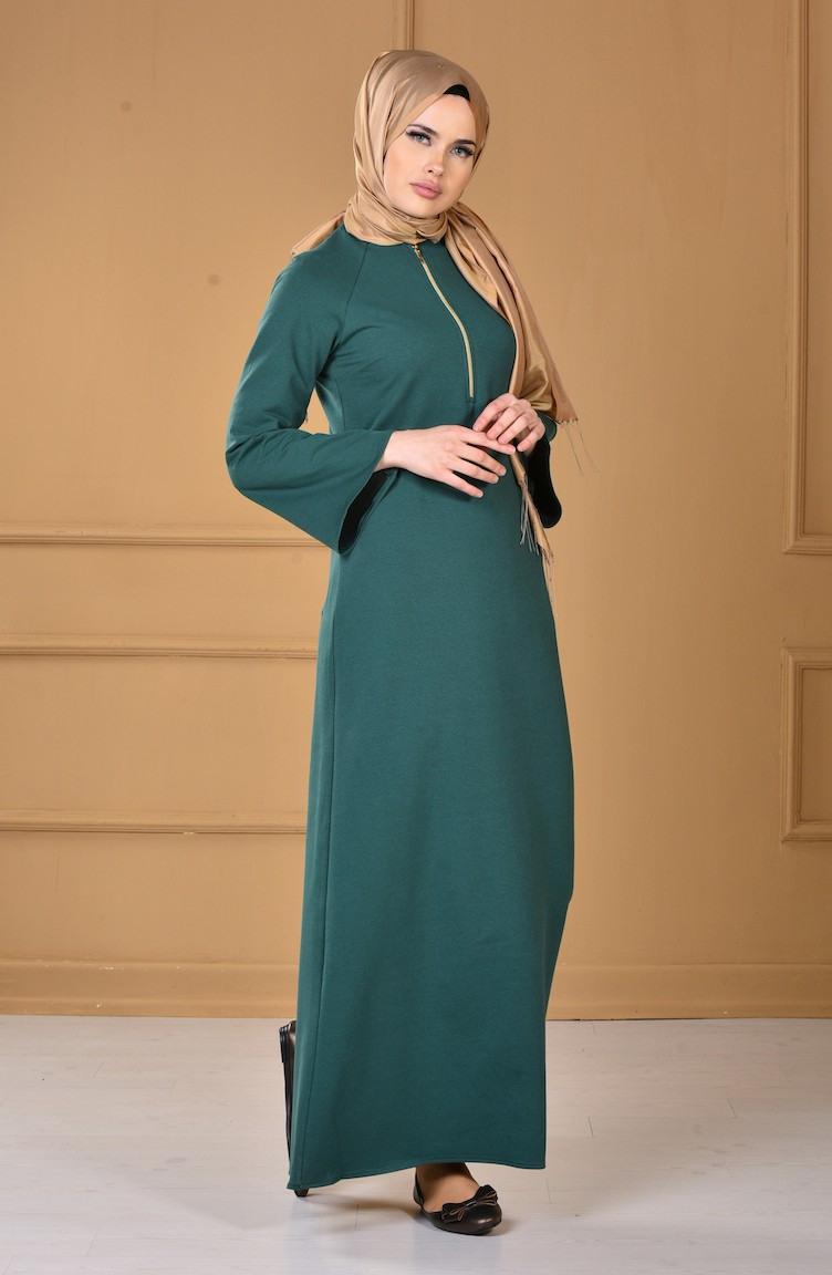 Kleid Mit Reißverschluss 283113 Dunkel Smaragdgrün 2831