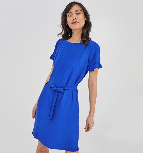 Kleid Mit Rückenausschnitt  Blau  Damen  Kleider  Promod