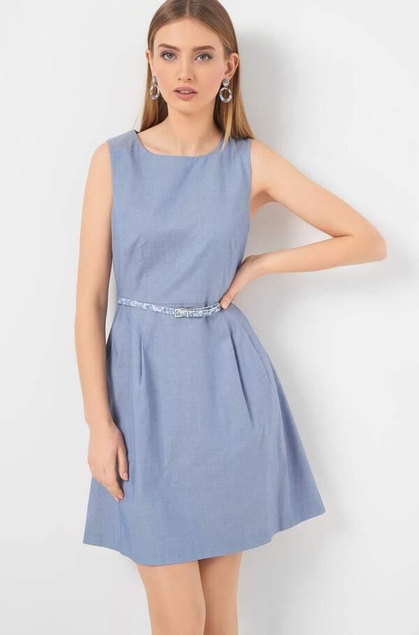 Kleid Mit Schmalem Gürtel Von Orsay Ansehen