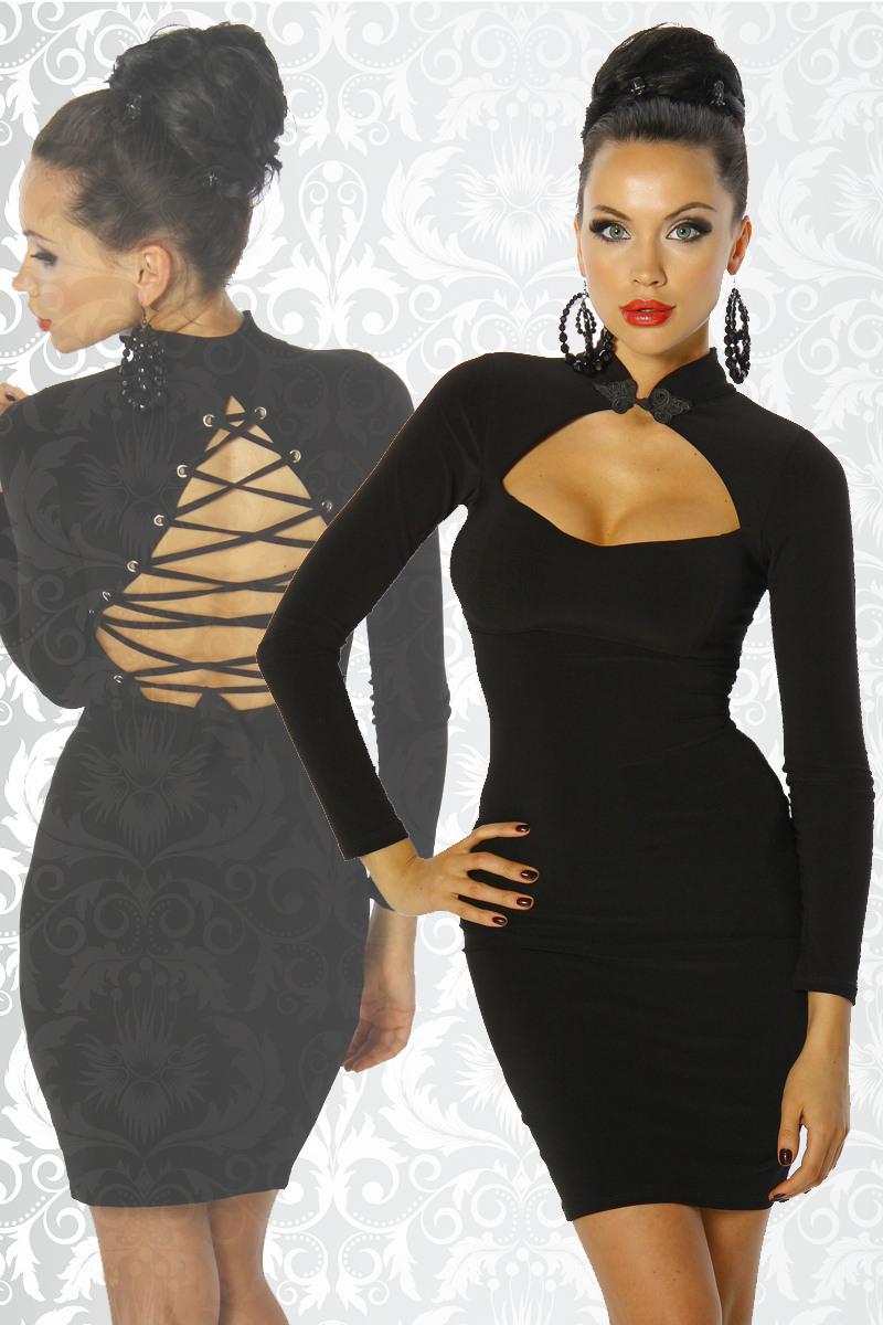 Kleid Mit Schnürung  Kleider  Kurz  Sexy Damenkleidung
