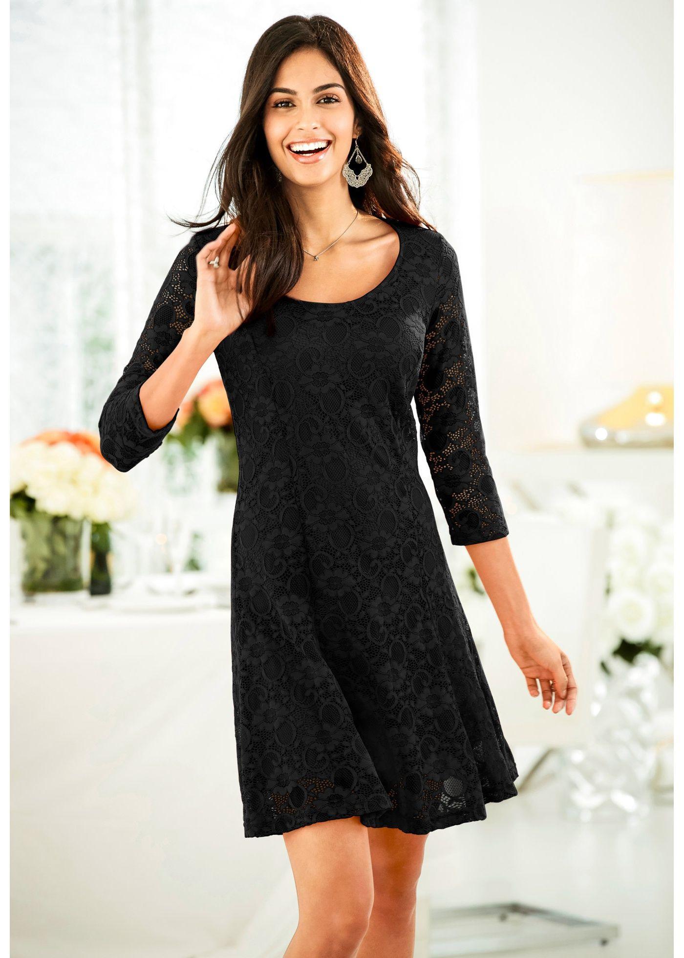 Kleid Mit Spitze Schwarz Jetzt Im Online Shop Von Bonprix