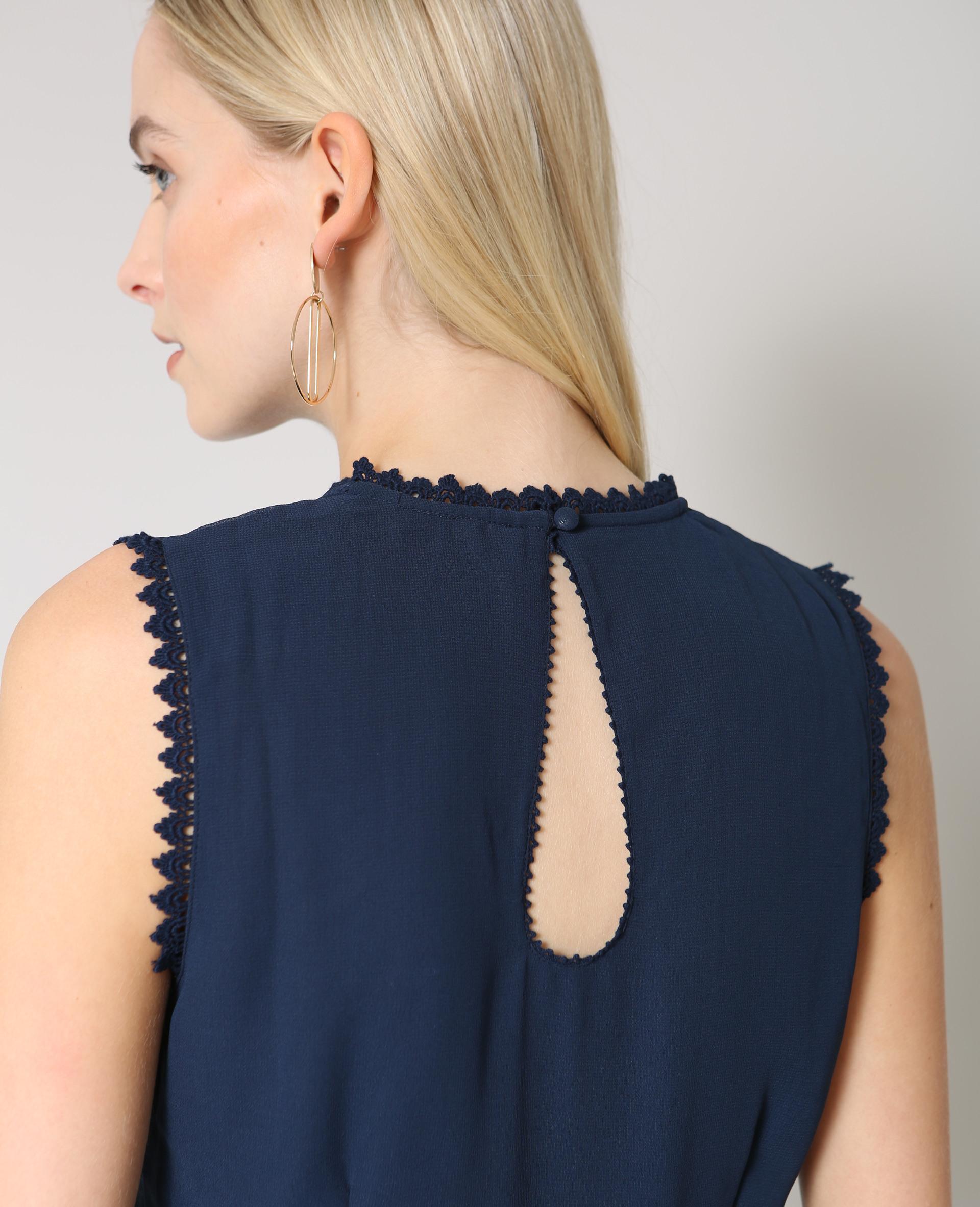 Kleid Mit Stickerei Marineblau  780898651A06  Pimkie