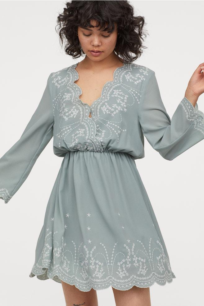 Kleid Mit Stickereien  Kurze Kleider Kleider Hm Und