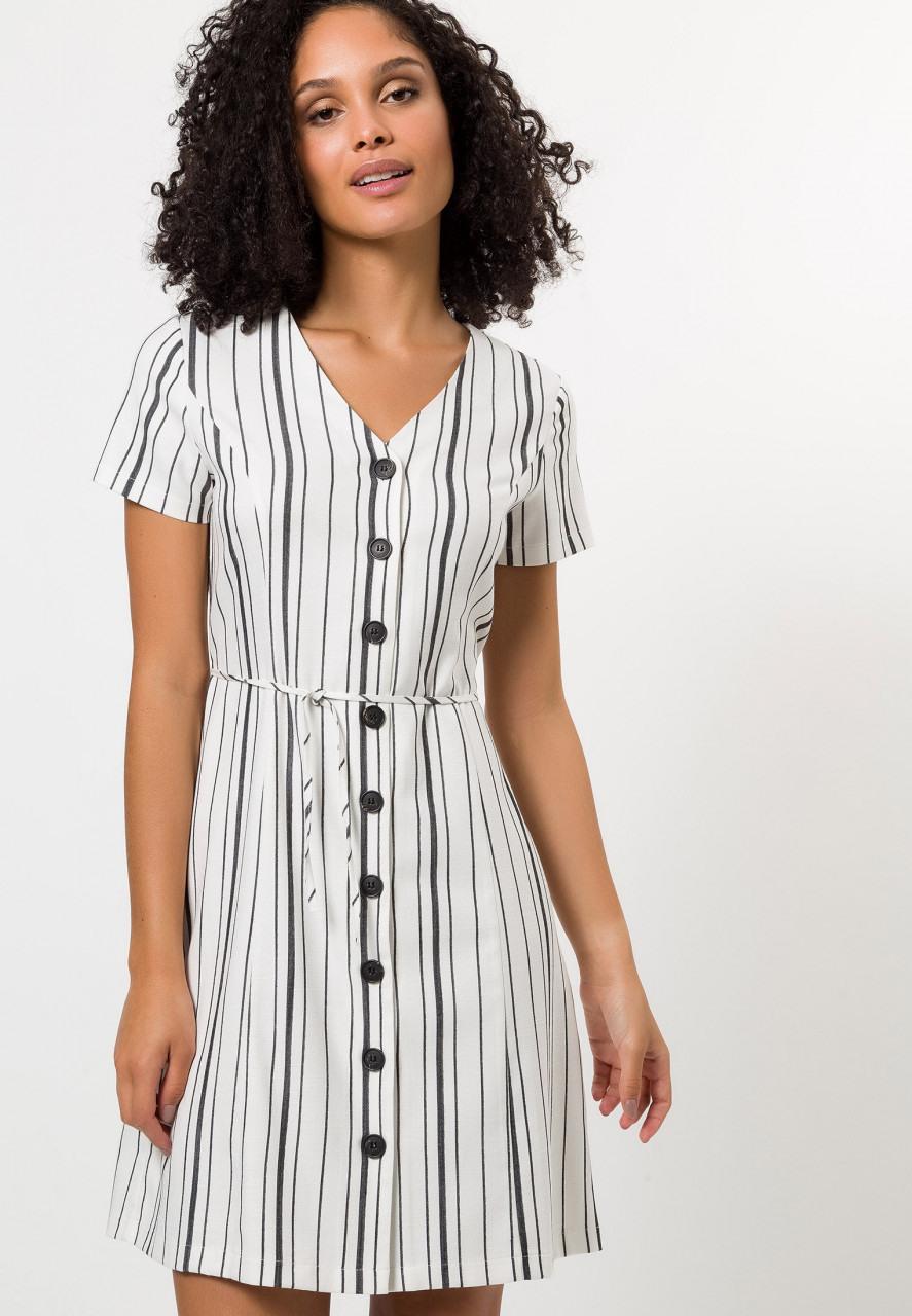 Kleid Mit Streifen  Kleider / Jumpsuits  Bekleidung