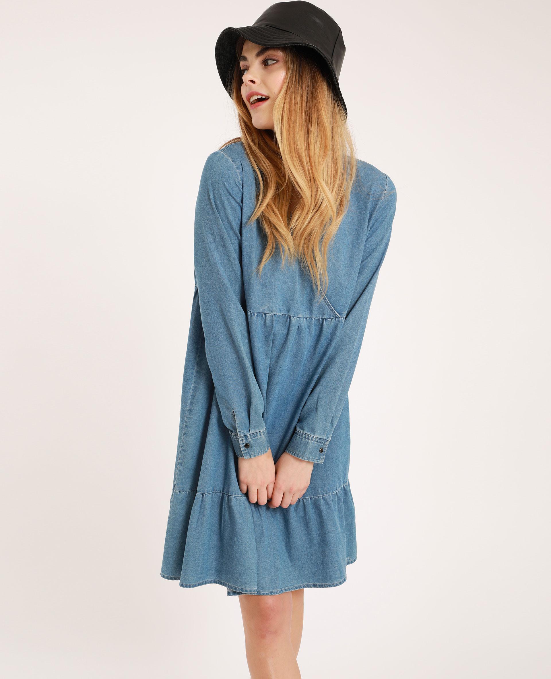 Kleid Mit Vausschnitt Blau  781387608A06  Pimkie