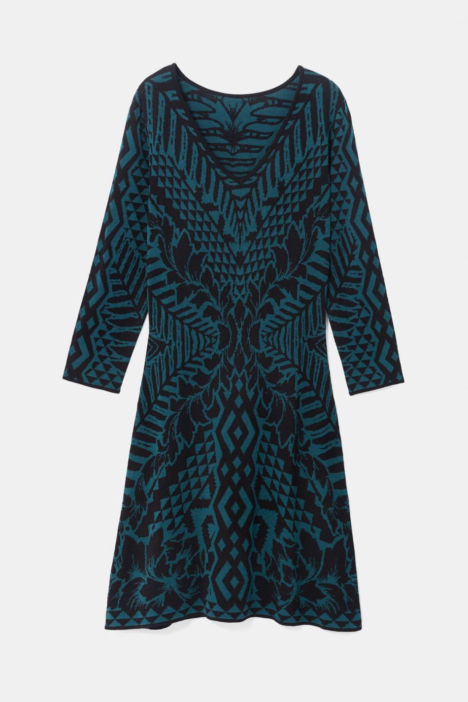 Kleid Mit Vausschnitt Green  Desigual Damen Kleider