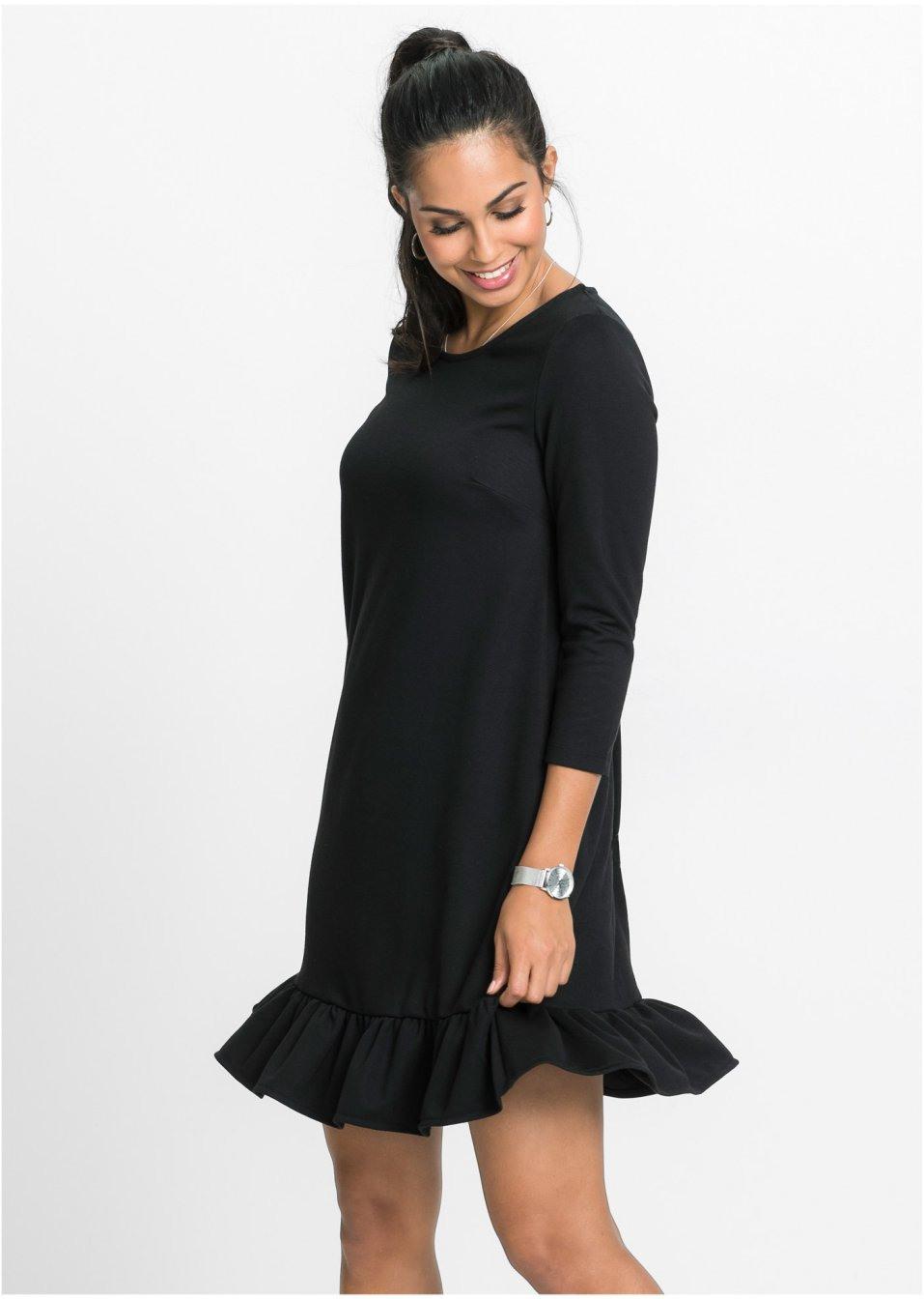 Kleid Mit Volant Schwarz  Bodyflirt Online Bestellen