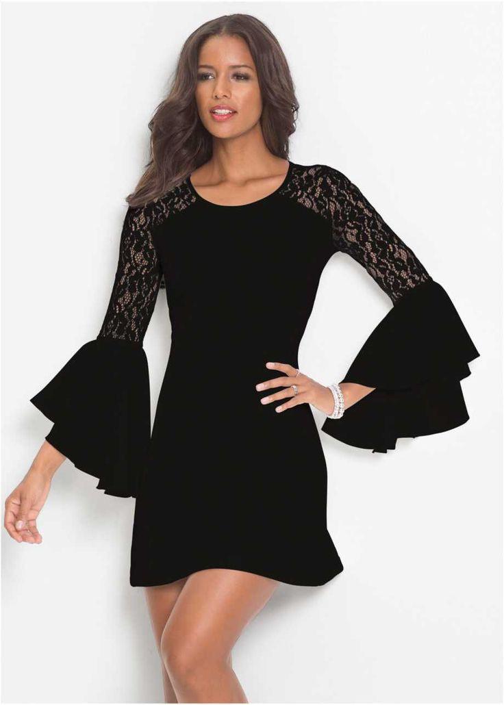 Kleid Mit Volant Und Spitze Bodyflirt Boutique  Kleid