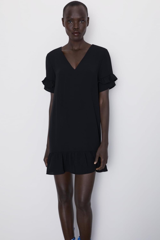 Kleid Mit Volant  Zara Deutschland In 2020  Kleid Mit