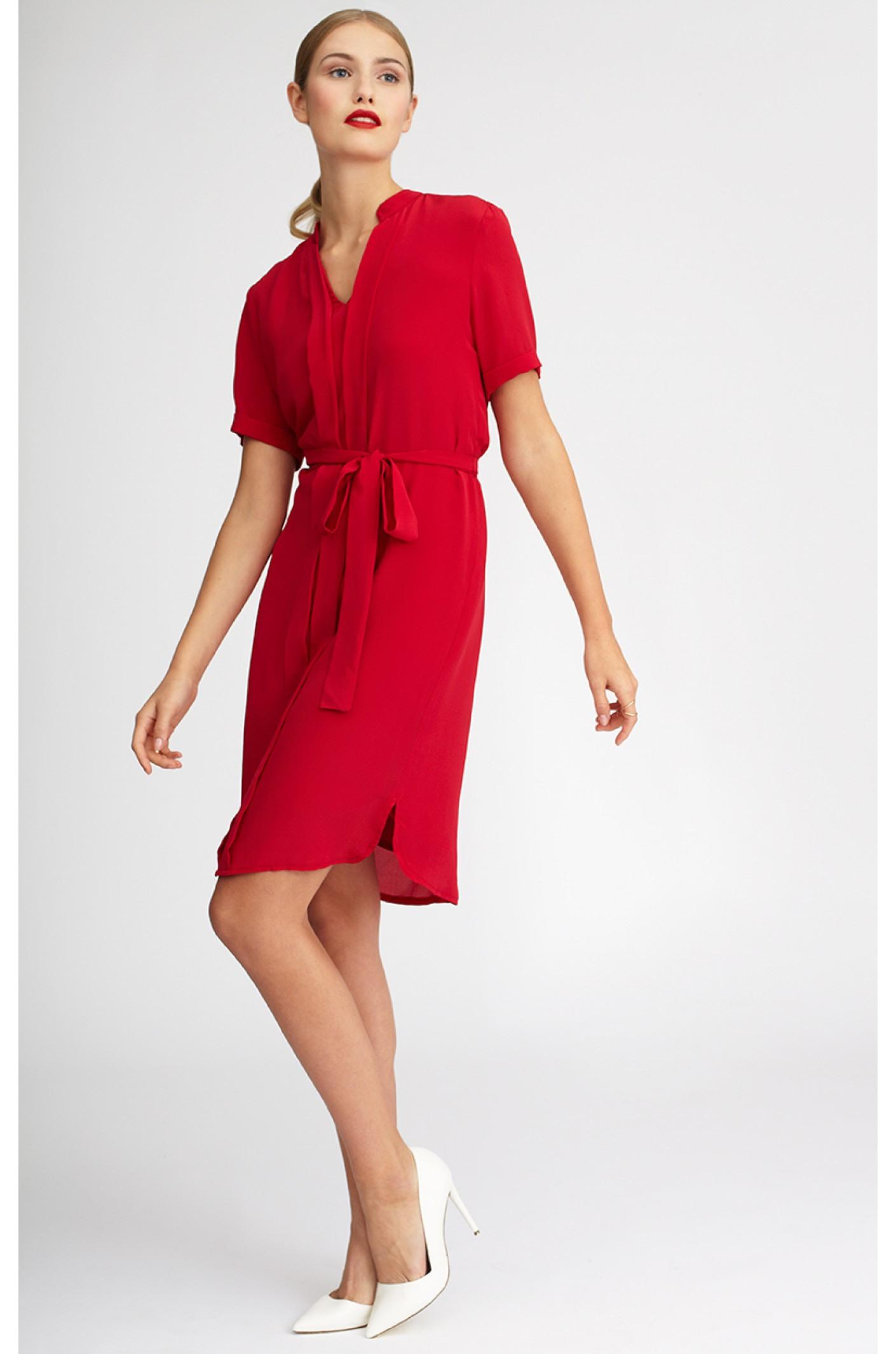 Kleid Nora Von Kala Fashion  Einen Roten Seidentraum