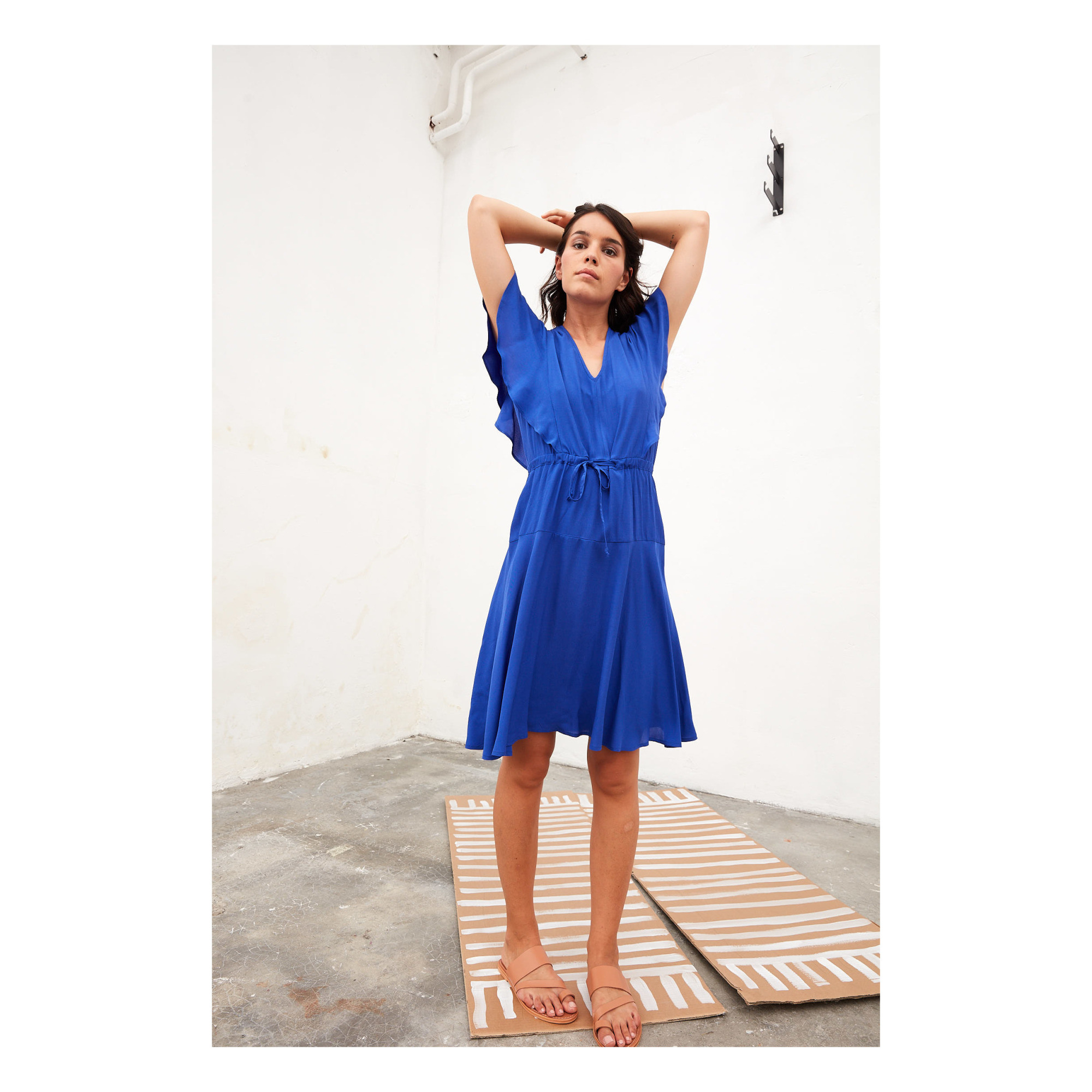Kleid Oanell Königsblau Tinsels Mode Erwachsene