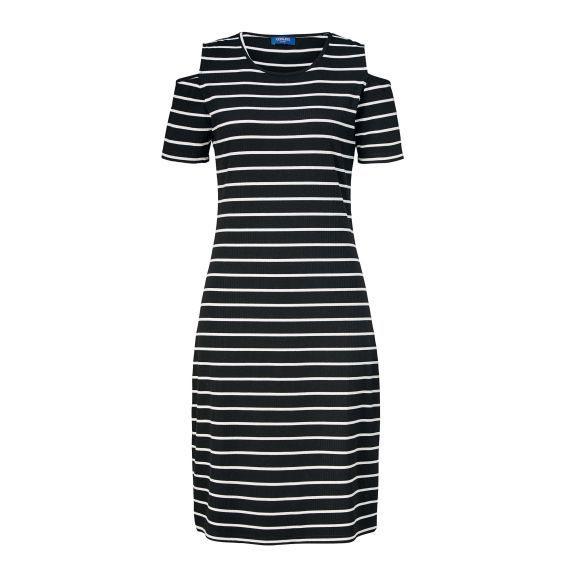 Kleid Offshoulder Feinripp Maritim Vorderansicht