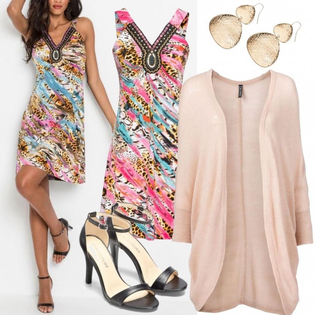 Kleid Ohne Ärmel In Pink V Ausschnitt Von Bonprix