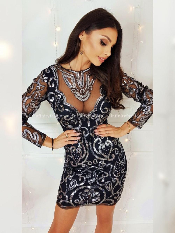 Kleid Rolyne Silber  Kleider  Infinityfashionshopde