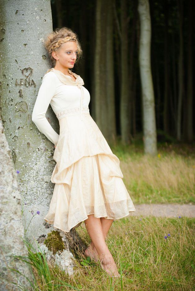 """Kleid """"Rosmary"""" Aus Ahimsaseide  Kleider Hochzeitskleid"""