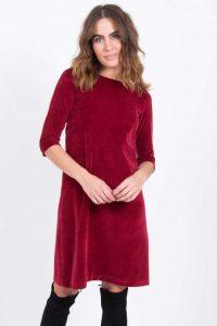 Kleid Samt Rot Abendkleid