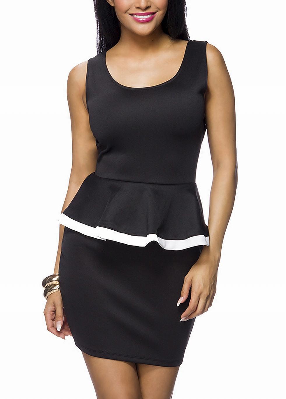 Kleid Schwarz Rückenfrei Minikleid Schleife