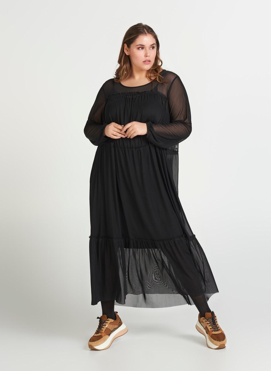 Kleid  Schwarz  Str 4256  Zizzide