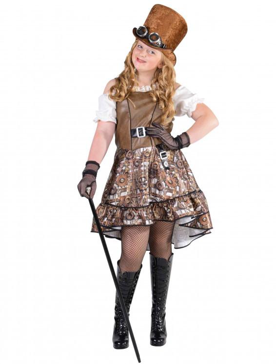 Kleid Steampunk Kinder Für Karneval  Fasching Kaufen