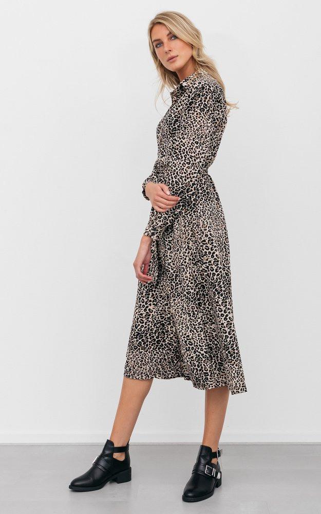 Kleid Stefan Leopard  Maxikleid Mit Leoprint  Guts  Gusto