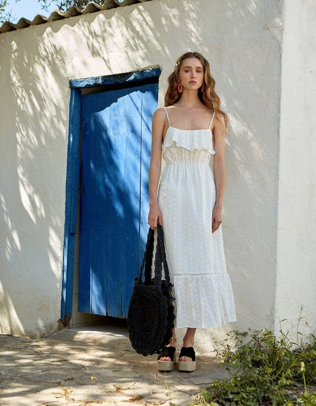 Kleid Total White  Boho Kleid Kleider Und Weißes Kleid