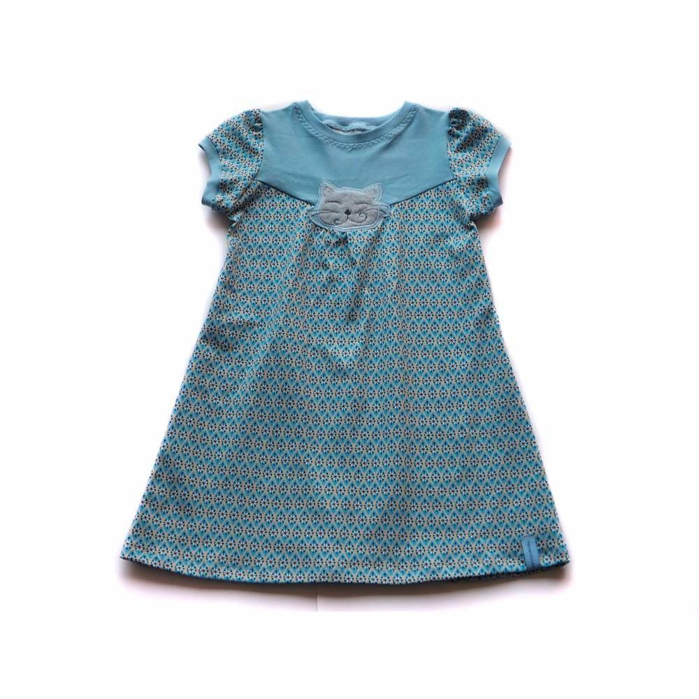 Kleid Tunika Hängerchen Mädchen Katze Frühling Sommer