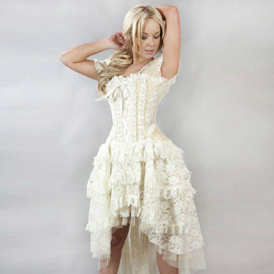 Kleid Viktorianisch Aus Spitze Mit Korsett  Ophelie Dress