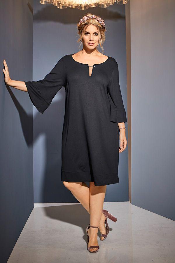 Kleid Volantärmel Alinie Ausschnittdekor In 2019