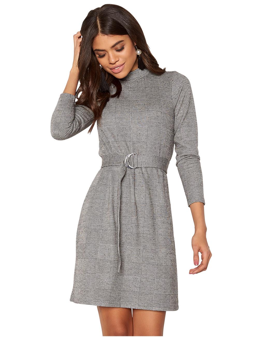 Kleid Von Happy Holly Mit Abnehmbarem Gürtel