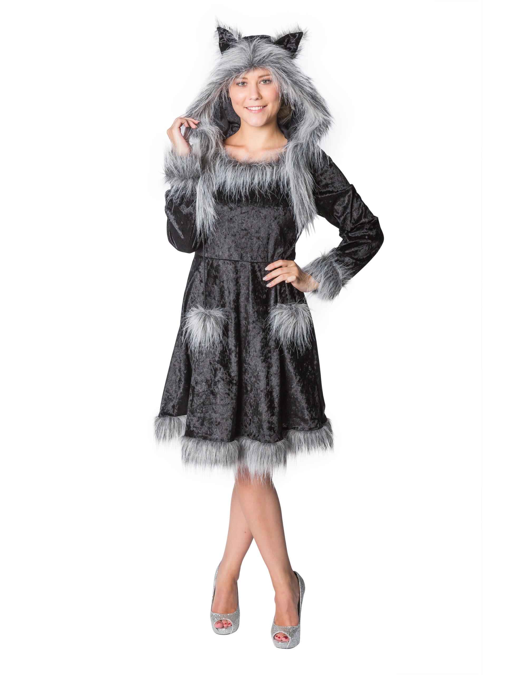 Kleid Waschbär Plüsch4015678079346  Hexenliebeszauberde