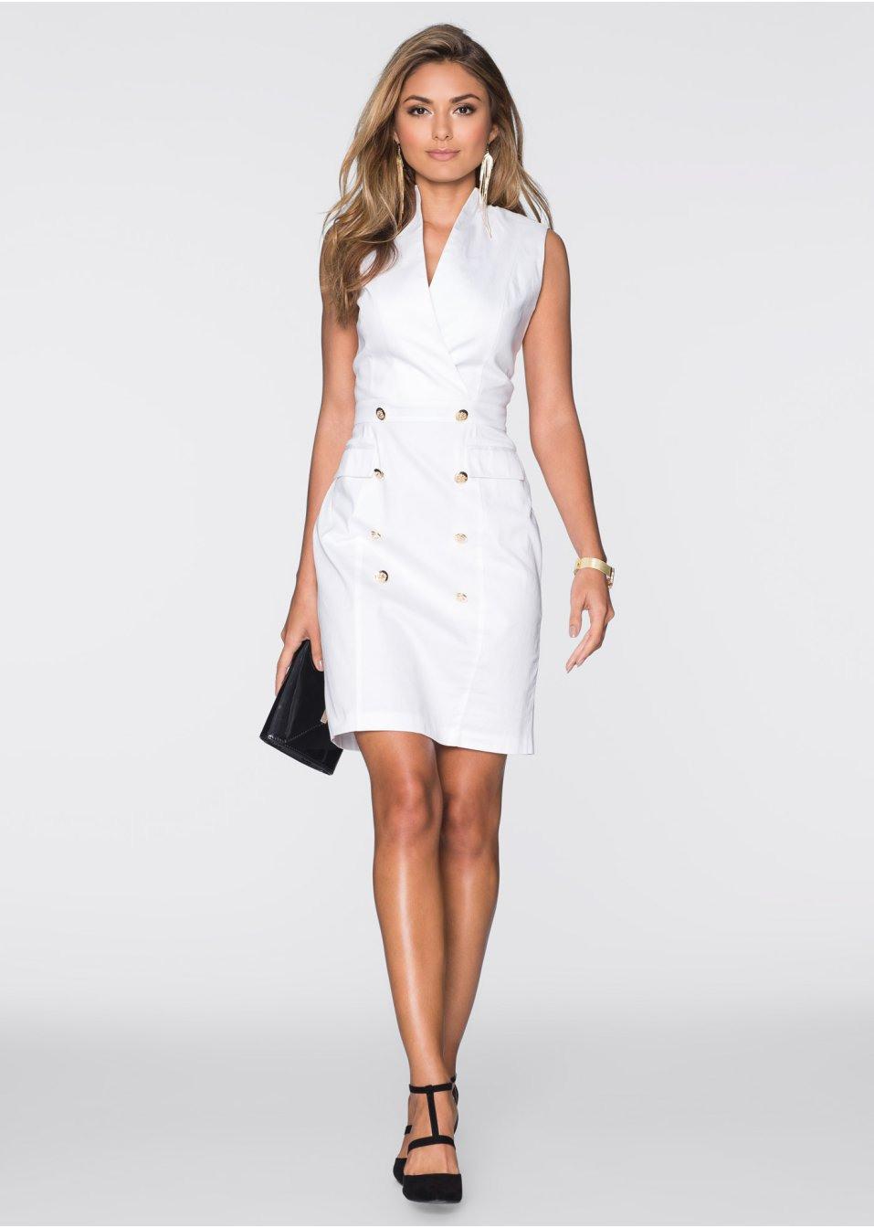 Kleid Weiß  Bodyflirt  Bonprixat