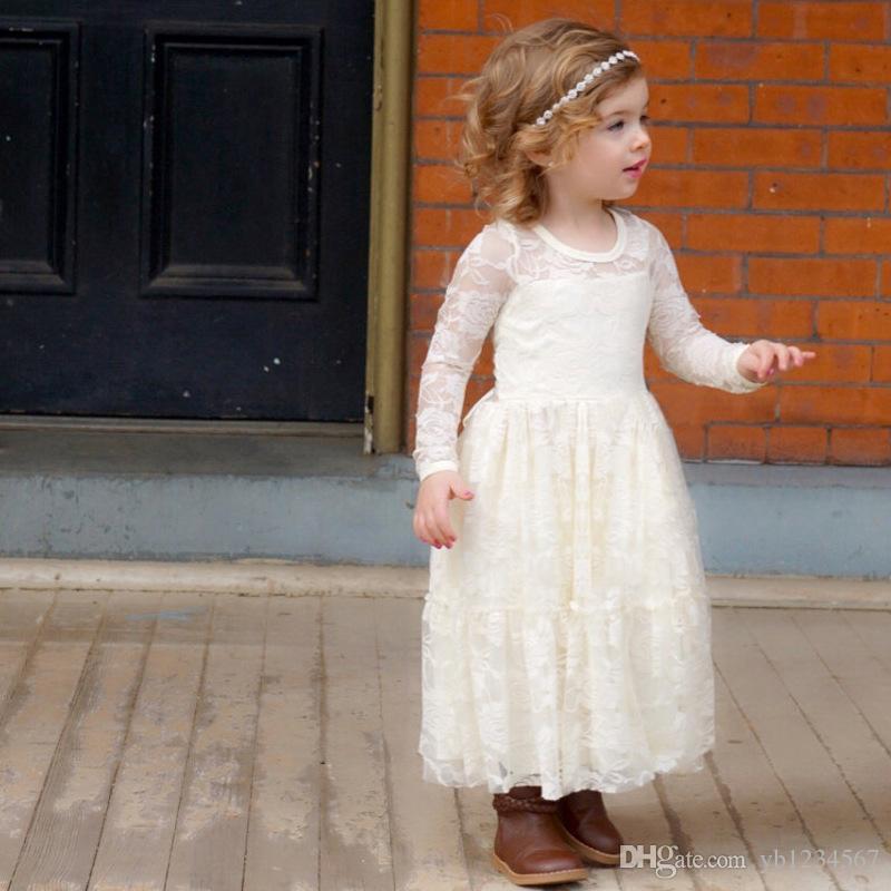 Kleid Weiß Lang Mädchen ⭐ Maxikleider Für Kinder  Lange
