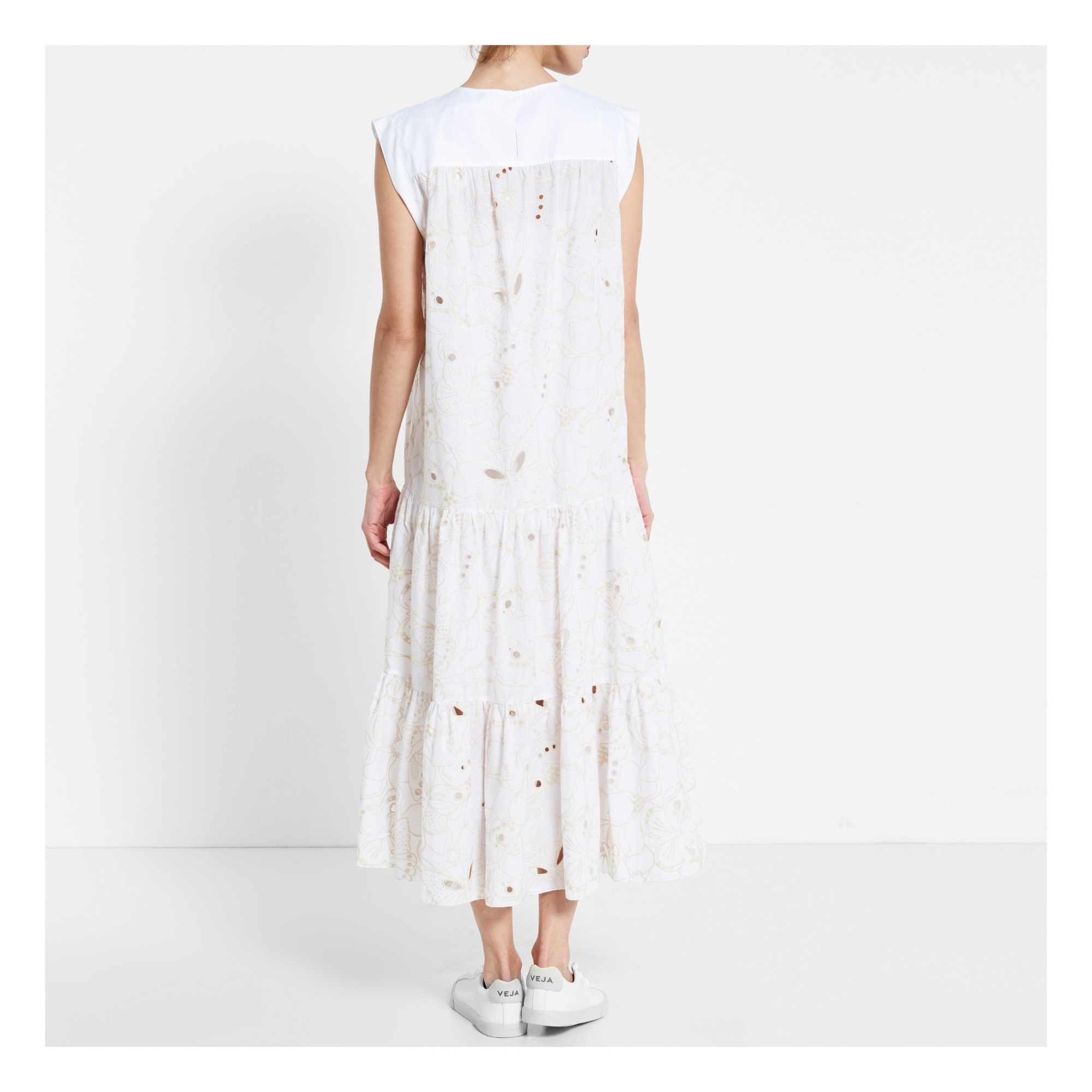 Kleid Weiß Seechloé Mode Erwachsene