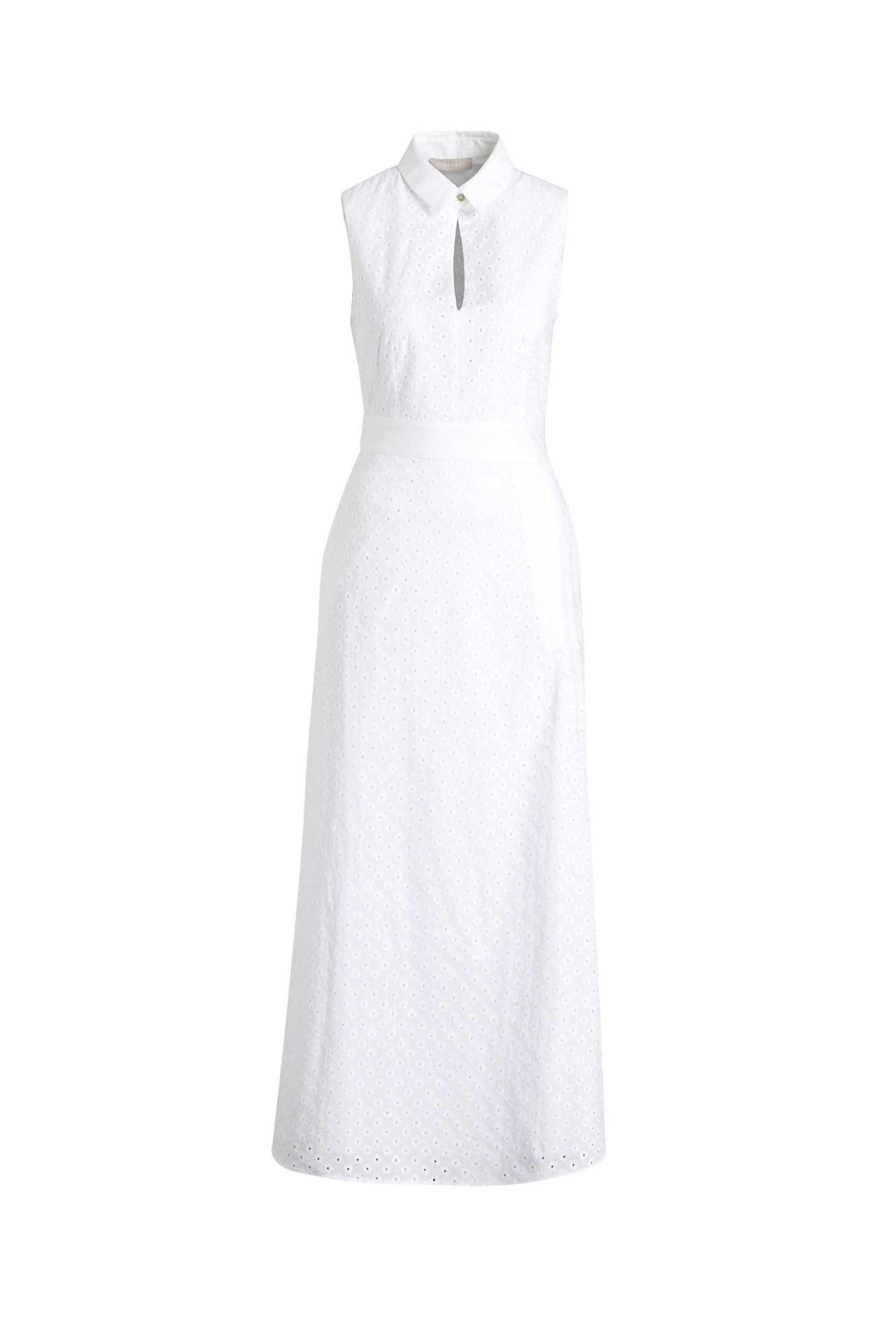 Kleid Weiß  Stefanel » Günstig Online Kaufen  Outletcity