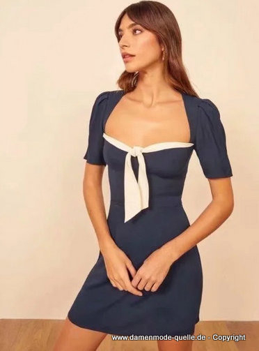 Kleider 2020  Chiffon Alinie Sommer Kleid 2020 In Blau