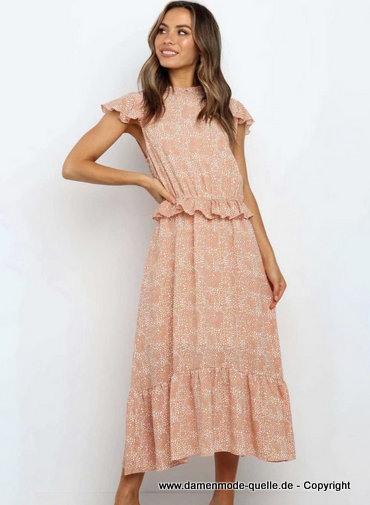 Kleider 2020  Sommer Rüschen Maxi Kleid Sommerkleid
