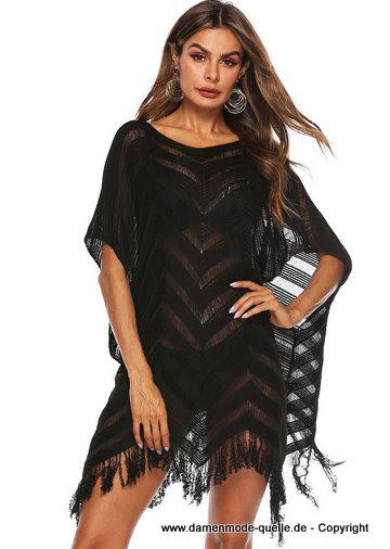 Kleider 2020  Vausschnitt Tunika Kleid 2020 In Schwarz